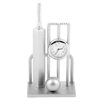 Miniature Cricket Bat, Ball and Wickets Novelty Collectors Clock 0182  9648G