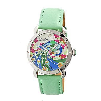 Bertha Didi MOP Leather-Band Ladies Watch - Mint