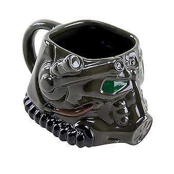 Fallout Cup 3D kracht armor zwart, bedrukt, op keramiek, in een aantrekkelijke geschenkverpakking
