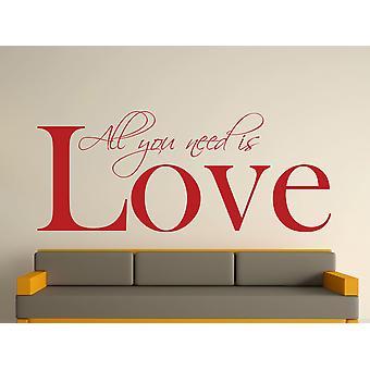 All You Need Art Wall Sticker - rouge foncé
