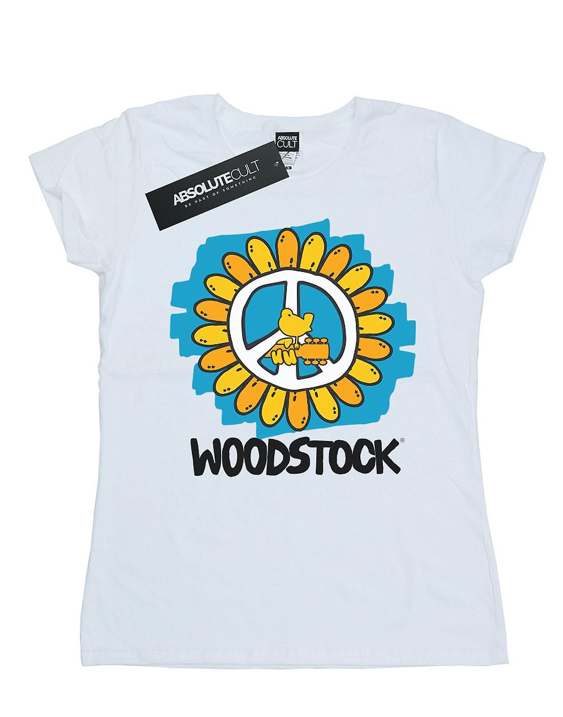 Woodstock Women's Flower Peace T-Shirt
