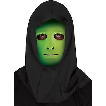 Visage blanc avec un masque protecteur