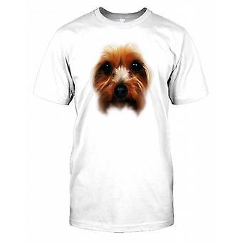 Yorkshire Skrekkelig Pedigree hunden ansiktet barn T skjorte