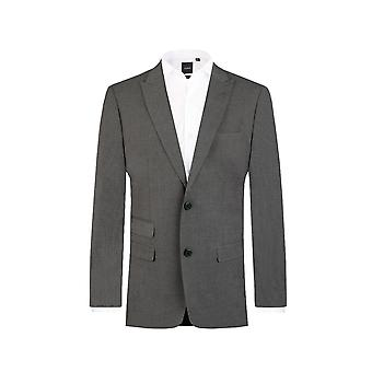 Dobell Mens Light Grey Travel/Performance 2 Piece Suit Regular Fit Peak Lapel