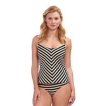 Féraud 3195026-16355 Frauen's Voyage Golden Ringlet gestreifte Bademode Beachwear Tankini Set