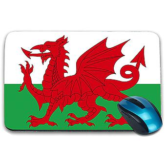 i-Tronixs - Wales Flag Printed Design Non-Slip Rectangular Mouse Mat for Office / Home / Gaming - 0237