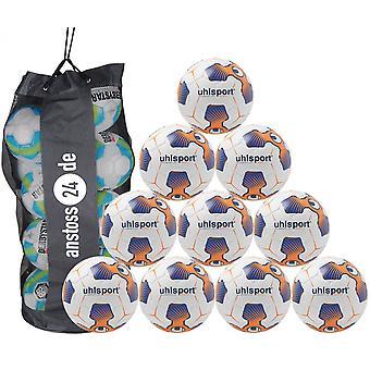 10 x Uhlsport 训练球 TRI 概念 2.0 REBELL(包括球袋)