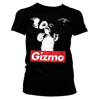 Women's Gremlins Gizmo Black Fitted T-Shirt