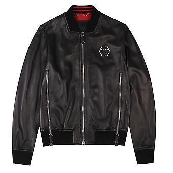 """Philipp Plein """"Serge"""" Leather Jacket"""