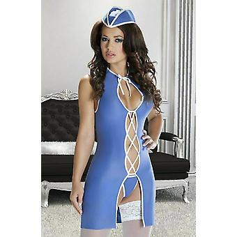 Avanua Lingerie Anita Blue Flirty Stewardess Fancy Dress Outfit