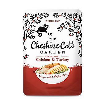 Cheshire Cat pollo giardino e cibo per gatti umido Turchia - 1 X 85g