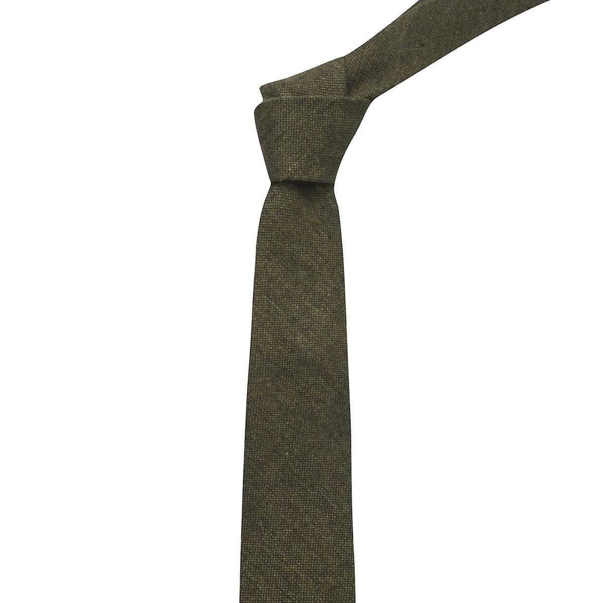 Highland Weave Forest Green Tie, Mens Necktie