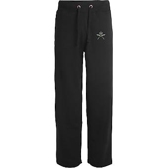 Royal Gurkha Rifles-licenseret britisk hær broderet åbne hem sweatpants/jogging bunde