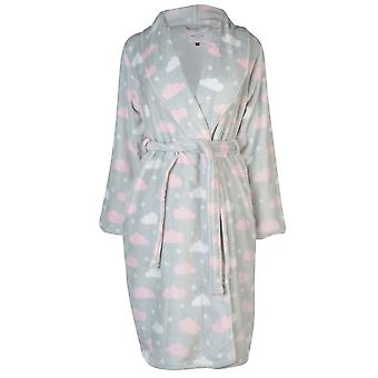 Rock and Rags Womens Cloud Print Robe Ladies