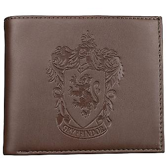 Harry Potter Gryffindor Logo Embossed Brown Wallet