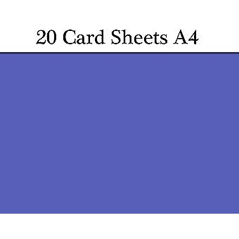 20 Royal Blue A4 Card Sheets for Crafts   Coloured Card for Crafts