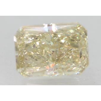 Certificado 1.51 quilates J VS1 Diamante Suelto Natural Mejorado Radiante 7.77x5.58m 2VG