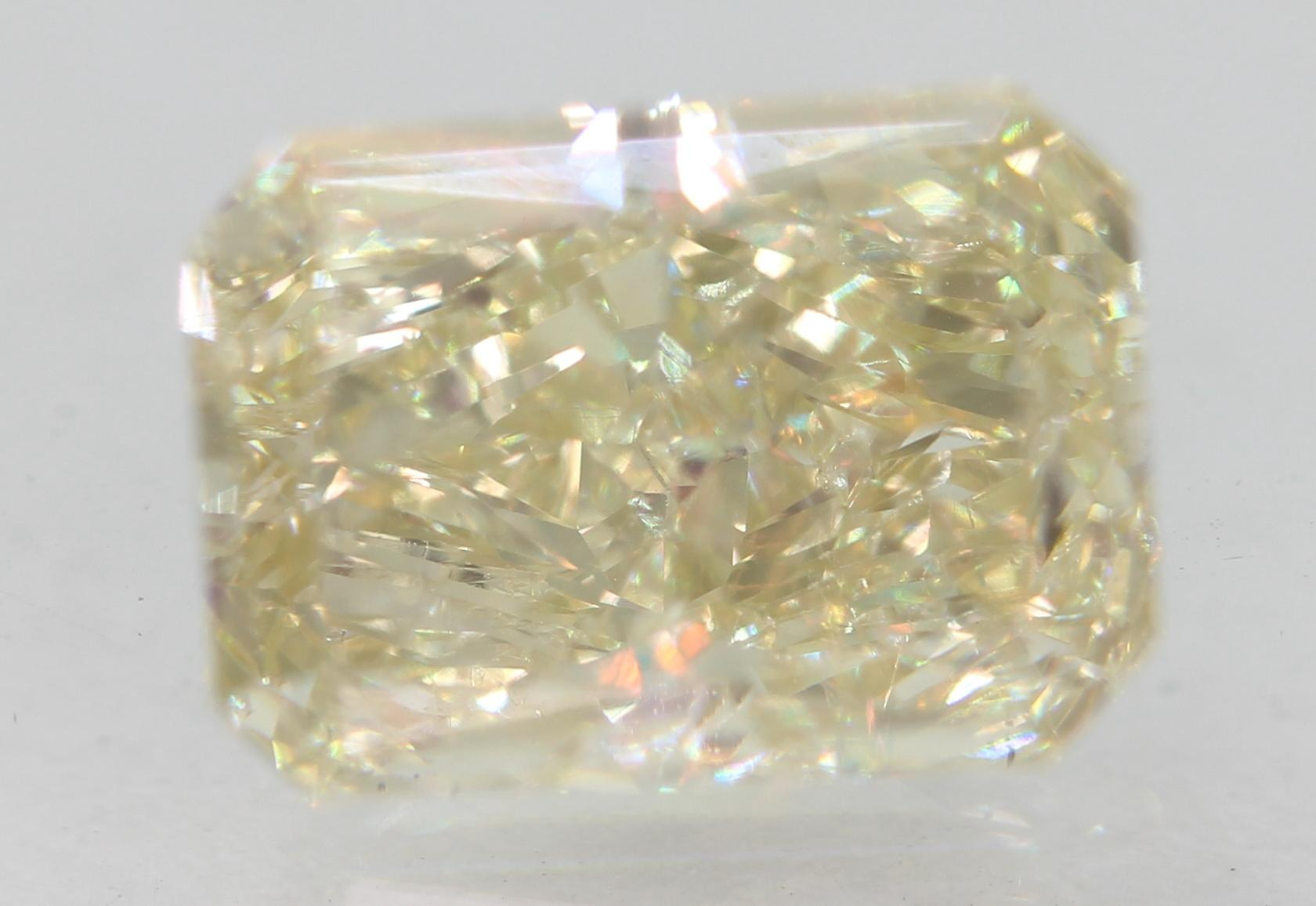 Certified 1.51 Carat J VS1 Radiant Enhanced Natural Loose Diamond 7.77x5.58m 2VG