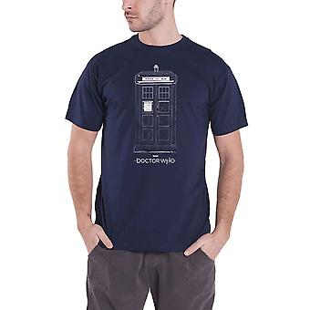 Doctor Who T Shirt Tardis Logo new Official Mens Navy