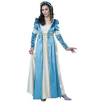 Juliet Capulet Shakespeare Romeo Renaissance keskiaikainen piika naisten puku