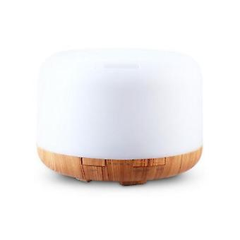 Ultrasonic Aroma Diffuser 500ml LED Light Wood Grain
