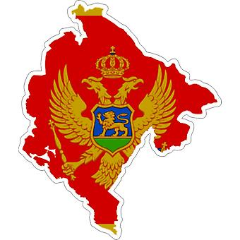 Tarra tarra liima-auton vinyyli lippu kortti Montenegro