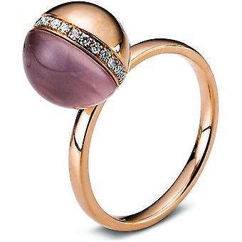 Gemstone Ring Diamonds 0.11ct. Quartz 3.68 ct. Size 54