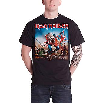 Official Iron Maiden T Shirt Trooper Album Cover Band Logo Mens New Black