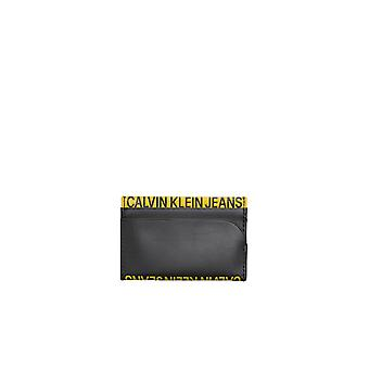 CALVIN KLEIN BLACK YELLOW CARD HOLDER