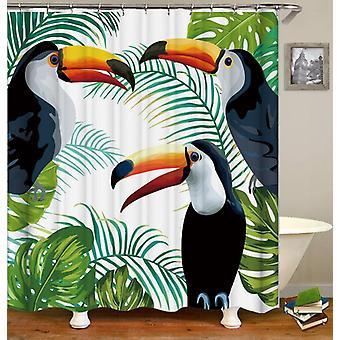 Toucans schilderij douche gordijn
