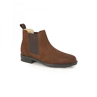 Roamers Archie Mens Twin Gusset Padded Suede Chelsea Boots Tan