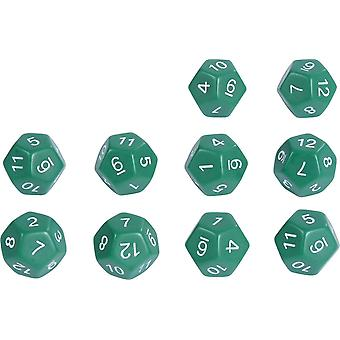 Eduplay 10 Piece 12 Side Dice Set Green Pack Toy (120425)