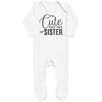 I'm Cute Just Like My Sister Baby Romper