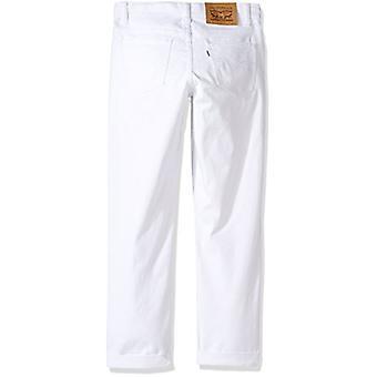 Levi's Girls' Big Distressed Boyfriend Fit Jeans, White, 10