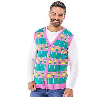 Christmas Shop Adultes Unisex Loud Tank Cardigan Vest