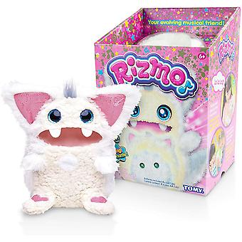 Rizmo Your Evolving Musical Friend - Cute Interactive Electronic Peluche Pet for Children Age 6 - Snow