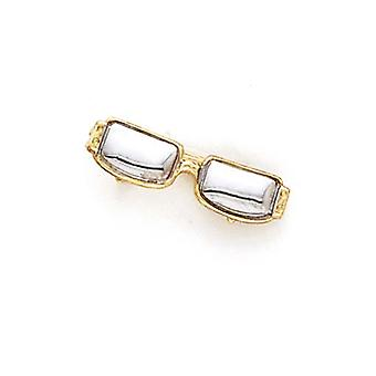 14 k Zwei-Ton Gold Sonnenbrille Anhänger Halskette Schmuck Geschenke für Frauen - 2,0 Gramm