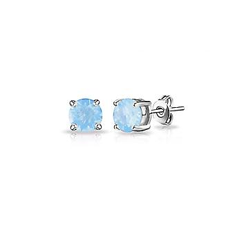 Air blue opal earrings created with swarovski® crystals