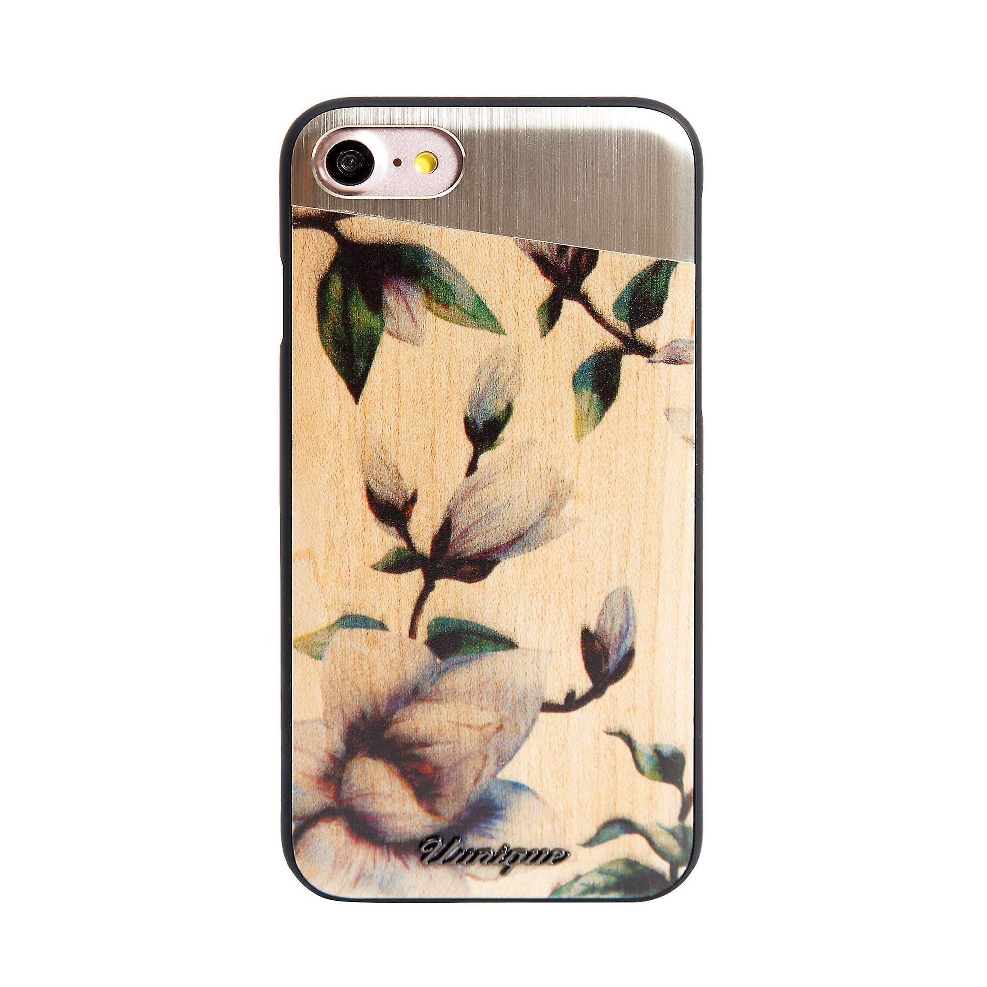 Genuine Wood Printed Brown iPhone 8/7 Case
