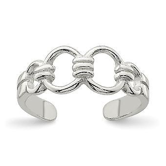 925 Sterling Sølv Solid Polert Tå Ring Smykker Gaver til Kvinner