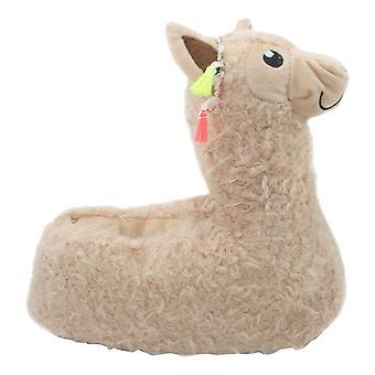 Slumberzzz Childrens/Kids Llama Slippers