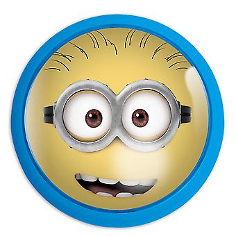 Despicable Me LED Pushlight Pushlight Minion Phil Blue, Yellow, Printed, Plastic Night Light, on Headercard.