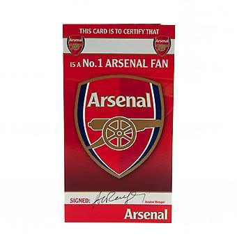 Arsenal FC No 1 Fan Birthday Card