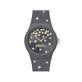 Superdry Watch SYL275E - Urban Star Round Case Grey Grey Dial Grey Bracelet Grey Pattern