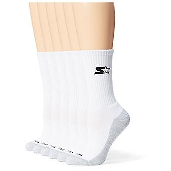 Starter Women's 6-Pack Athletic Crew Socks,  Exclusive, White, Medium (...