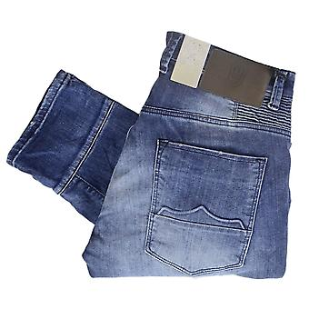 883 Police Cassady Adg 434 Mid Washed Patched Up Regular Fit Jeans