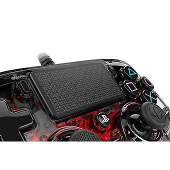 Nacon Compact Controller para PlayStation 4 PS4 - Rojo claro