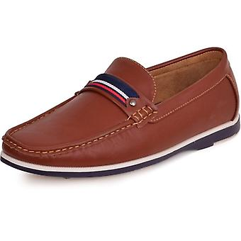 Spindle Mens Luxury Loafers Slip On Casual Cushioned Moccasins Driving Boat Deck Shoes 7-12