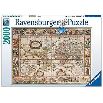 Ravensburger 2000 Piece Puzzle Map of the World 1650