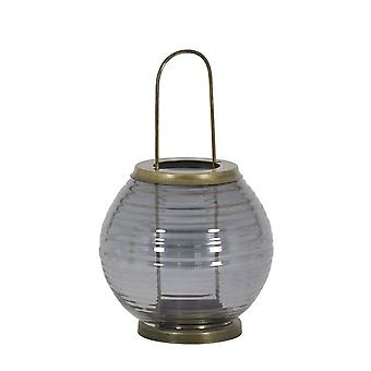 Light & Living Hurricane 14x25cm - Thor Glass Grey Luster And Antique Bronze